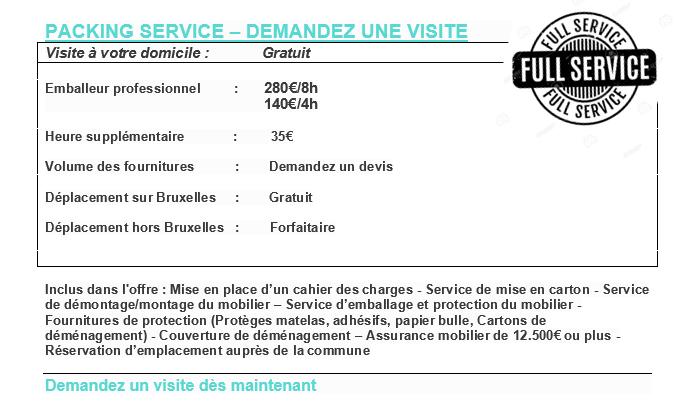 Pack package – Déménagement Bruxelles – Maestro Lift – Déménagement national – Lift service Bruxelles -Carton de déménagement – Emballage complet mise en carton