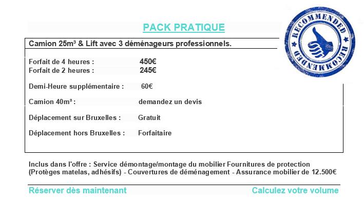 Pack pratique – Déménagement Bruxelles – Maestro Lift – Déménagement national – Lift service Bruxelles – Camion de déménagement Bruxelles
